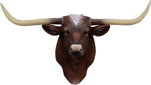 TG LLC Longhorn Steer Ox Horns Resin Wall Mount Head Fake Taxidermy