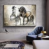Wfmhra Abstrakte tierische Retro-Pferdeölgemälde auf
