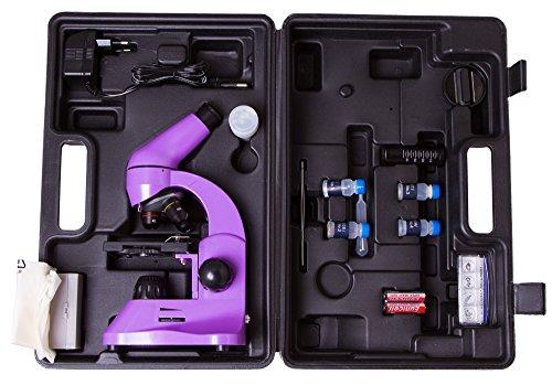 Microscopio Escolar Ligero Levenhuk Rainbow 50L Amethyst/Ama