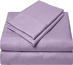 SGI bedding 1000 Thread Count Egyptian Cotton Bed Sheets 4 Piece Sheet Set Solid California King Purple SGI-HQ-MCPNN-40