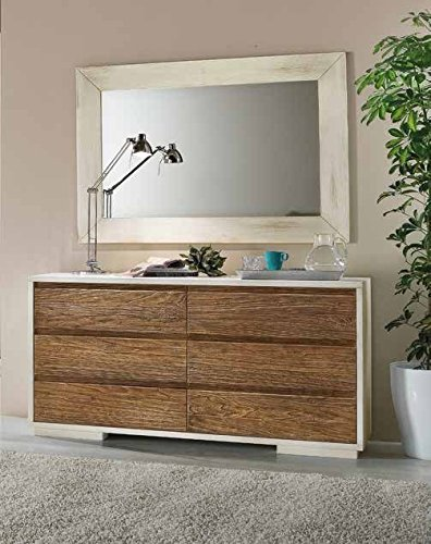 Commode en bois 6 tiroirs pour décoration de maison
