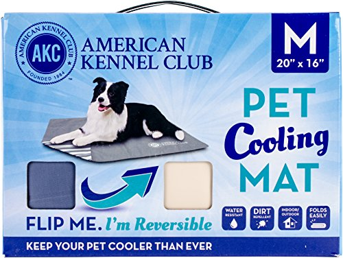 Bow Wow Pet American Kennel Club Reversible Cooling Mat, Solid, Blue, 20 x...