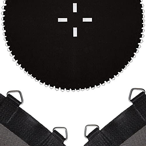 SPRINGOS Tappeto elastico con 84 occhielli, accessorio per trampolino con diametro di 396 cm, 84 occhielli (nero 396 cm, 84 occhielli)