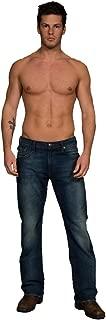 Men's Simon Jeans Contrast Stitiching Dark Deep Shaded Denim Pant Size 30/32