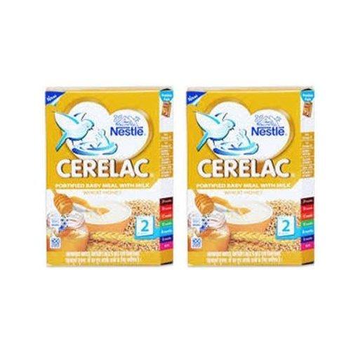 2 LOT X Nestle Cerelac Wheat Honey - 8 Months + (300 G X 2) by Nestle