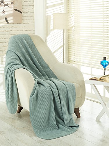"Ottomanson Soft Fleece Blanket, 50"" x 65"", Seafoam"