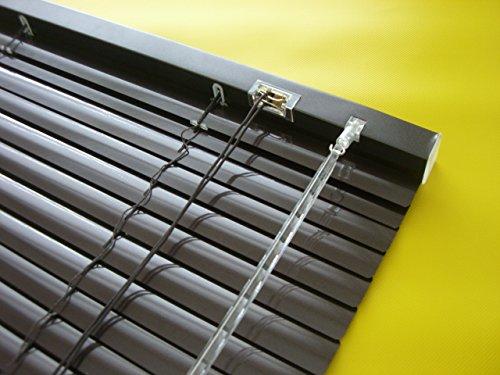 Alu Jalousie Mocca - Breite 50 bis 240 cm - Höhe 160/220 cm - Tür Fenster Rollo Jalousette Aluminium Fensterjalousie Lamellen Metall (80 x 220 cm)