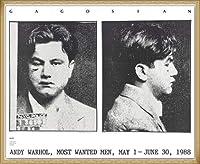 ポスター アンディ ウォーホル Most Wanted Men No. 2 John Victor G 額装品 ウッドベーシックフレーム(ナチュラル)