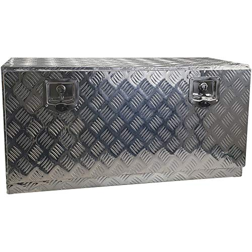 WD Tools Alu Transportbox TB 170 LxBxH 92 x 40 x 46 cm Aluminium Kiste Riffelblech