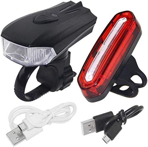 WYZQ Wiederaufladbare USB-Fahrradbeleuchtung, 300-Lumen-Fahrradscheinwerfer, ILED-Fahrradbeleuchtung, IP65-wasserdichte Rennrad-Bergbeleuchtung, Nachtfahrten, Fahrradbeleuchtung
