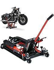 OUKANING 680KG Plataforma de elevación de la Motocicleta Motocicleta Scissor hidráulico Jack Bicicleta Moto Soporte de Montaje del Elevador