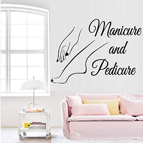 Nagel Wandaufkleber Abziehbilder Pediküre Nagel Salon Nagelkunst Wandbild Nagel Salon dekorative Wandaufkleber43cmX44cm