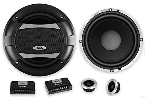 BOSS Audio Systems PC65.2C 500 Watt Per Pair, 6.5 Inch, Full Range, 2 Way Car Component Speaker System with 2 Tweeters and 2 Crossovers