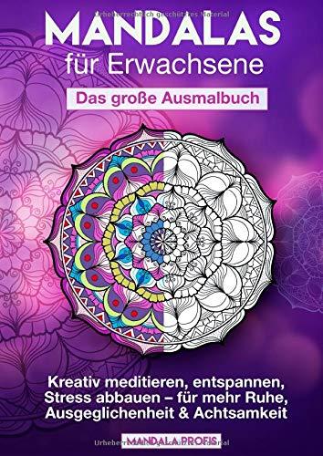 Mandalas für Erwachsene – Das große Ausmalbuch: Kreativ meditieren, entspannen, Stress abbauen – für mehr Ruhe, Ausgeglichenheit & Achtsamkeit [BONUS: 100 kostenlose Mandalas als pdf]