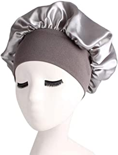 Niome Satin Hat for Sleeping Natural Hair Domed Satin Beauty Bonnet Cap Salon Hair Care with Wide Side Elastic Band