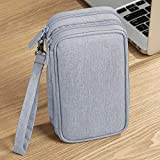 Waterproof Travel Cable Storage Bag Electronic Accessories Cable Organizer Bag for GoPro Max Action Camera 3X Tempered Glass Screen Protector, Fit with Boxes Accessory for Go Pro Max