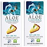 Aloe Cadabra Flavored Personal Lubricant & Moisturizer for Anal, Sex, Oral, Women, Men & Couple, 2.5 Ounce, Key Lime Pie (Pack of 2)