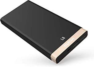 iMuto 10000mAh Portable Charger Power Bank, Ultra Slim External Battery Pack with LED Digital Display and Dual USB Output for iPhone X 10 8 7 Plus, Galaxy S8, Note 8, Nintendo Switch, Tablets and More