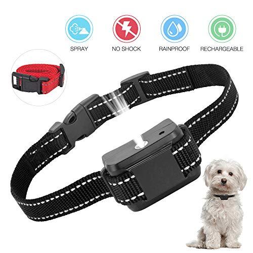 ULTPEAK Collar Antiladridos, Collar Automático de Spray Anti-ladridos, Collar Adiestramiento Perros Recargables y Seguros, Sensibilidad y Volumen Ajustables