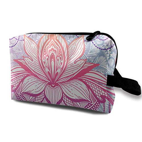 XCNGG Travel Makeup Storage Bag- Portable Toiletry Handbag Small Cosmetic Organizer Pouch for Women & Men- Flower