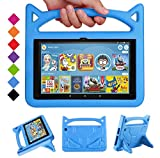 2020 Fire HD 8 Kids Case,Fire HD 8 Plus Tablet Case-SHREBORN Kid-Proof [Kids Friendly] Case with Stand Handle for All-New Amazon Kindle Fire HD 8 Plus / HD 8 Tablet(10th Generation, 2020 Release),Blue