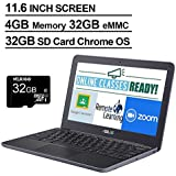 2020 Newest Asus Chromebook 11.6 Inch Laptop, MediaTek MT8173C 2.1GHz, 4GB RAM, 32GB eMMC, WiFi, Bluetooth, Webcam, Chrome OS + NexiGo 32GB MicroSD Card Bundle