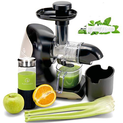 **NEUHEIT** GREEN-PRESS KERAMIK Horizontaler Slow Juicer mit Keramik Pressschnecke BPA-frei | Sellerie, Selleriesaft, Weizengras, Kräuter Grüne Detox Säfte | Allround Entsafter elektrisch