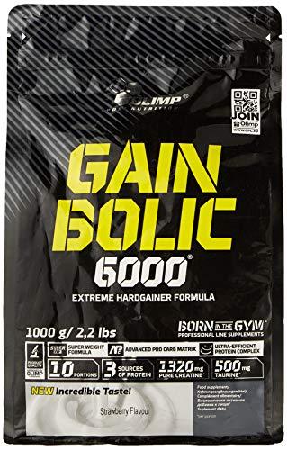 Olimp Gain Bolic 6000 Bag Mass Gainer Supplement, Strawberry 1kg