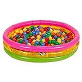 Selonis Babys Planschbecken Babypool Schwimmbad Mit Bällen Pool, Regenbogen:Gelb/Grün/Blau/Rot/Orange,114X25cm/100 Bälle