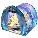 moin moin 1/24 ドールハウス ミニチュア 手作りキット セット 360度 水族館のような 水の中のお家 幻想的 オーシャン 海 英語説明書 LEDライト 2106DH263