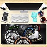 Ttoo'l Ampio Tappetino per Mouse 800x300x4mm Pneumatico Creativo Ⅰ Mouse Pad,Superficie Comoda e Liscia migliora precisione e velocità,per LOL Go Wow PC