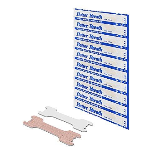 100x tiras nasales contra los ronquidos tiritas nasales antirronquidos para respirar mejor by Better Breath by AirPromise Health Care - talla L 66 * 19mm
