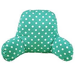 Light Green dotten pattern reading pillow for kids, toddlers, and girls, boys