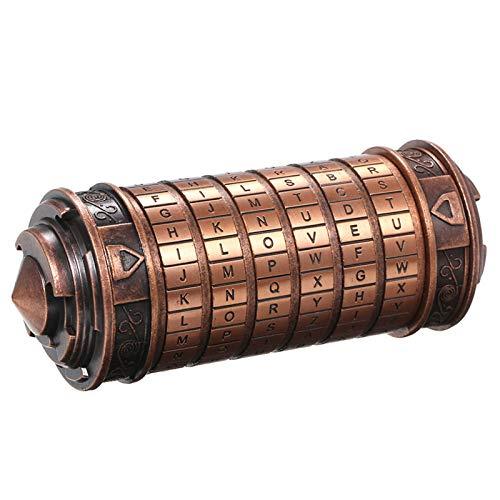 Festnight Da Vinci Code Retro Regalo San Valentín Hombre Mujer Niños Mini Cryptex Lock Romántico Regalo Cumpleaños Cajas con Tarjeta de felicitación
