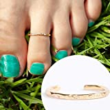 14k Gold Filled Hawaiian Adjustable Open Toe Ring One Size Fits Most Toes...