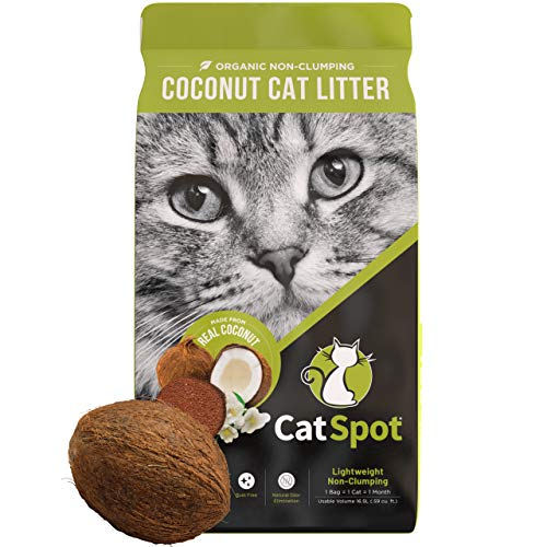 CatSpot Litter, Non-Clumping Formula: Coconut Cat Litter, Biodegradable, All-Natural, Lightweight & Dust-Free