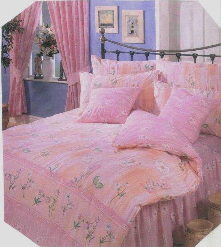 Double Bed Duvet/Quilt Cover Set, Eloise Pink, Pretty Floral Girls Bedding Set