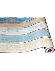ورق تلامس خشبي عتيق من هومي،، 45 × 600 سم، ورق جدران قابل للتقشير، ورق حائط ذاتي اللصق مع بي في سي مقاوم للماء ومقاوم للزيت قابل للإزالة للجدران، كونترتوب، خزانة أثاث غرفة نوم الحمام
