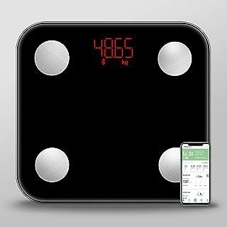 Báscula Báscula, escala de grasa, que pesa la escala del cuerpo escala de grasa corporal escala exacta de los hogares, la función electrónica multipunto, la operación de voz recordatorio, la masa musc