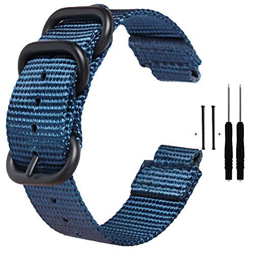 Zeit Diktator Correa de reloj para Garmin Forerunner 220/230/235/620/630/735XT/235 Lite,Correa de repuesto para reloj inteligente de nailon, color opcional