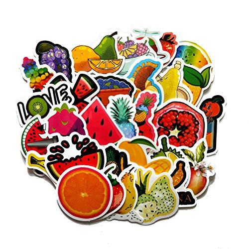 Leuke handgemaakte fruit-account-stickers, watervaste stickers voor het versieren van notebooks voor tablet mobiele telefoon (60 willekeurige foto's)