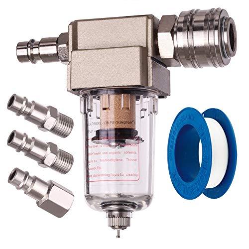 Druckluft Filter Wasserabscheider Ölabscheider INKLUSIVE Schnellkupplung