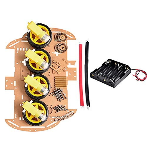 Reland Sun 4WD Robot Motor Smart Car Chassis Kits With Speed Encoder 51 M26 DIY Education Robot Smart Car Kit Diy Electronic
