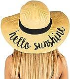 Embroidered Sun Hat - Hello Sunshine