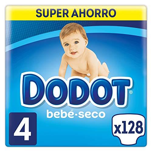 Dodot Bebé-Seco Pañales con Canales de Aire, Talla 4, 2 Unidades x 64 Pañales, Total: 128 Pañales