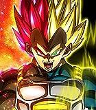 Dragon Ball Super Son Goku Vegeta Y Gogeta Puzzles 1000 Piezas Desafío Fresco Fresco DIY Regalos Hecho A Mano Fresco Jigsaw Puzzles 75X50cm,Vegeta