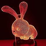 Veilleuse 3D Beau Cadeau Romantique Lampe De Table Led 3D 7 Changement De Couleur Veilleuse...