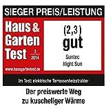 SUNTEC Infrarot-Heizstrahler | Heat Carbon Wärmestrahler für Terrasse | Outdoor Terrassenheizer für Balkon, Garten Infrarotstrahler Strahlwasser-Schutz (Night Sun) - 3
