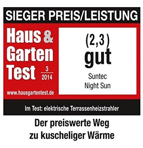 SUNTEC Quarz-Terrassenheizstrahler Night Sun [Für Balkon Terrasse Garten Bild 5*