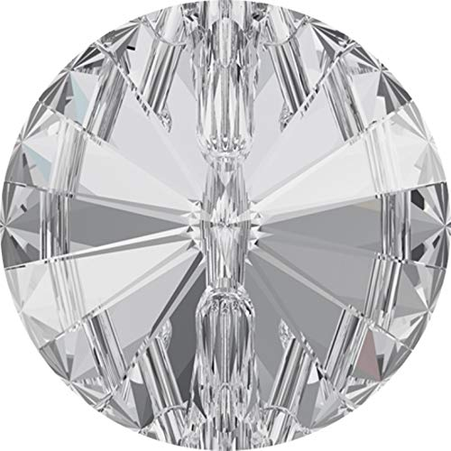 Swarovski Crystal Buttons Sew on 3015 Clear Transparent 27 mm Fashion Upholstery 1 Button